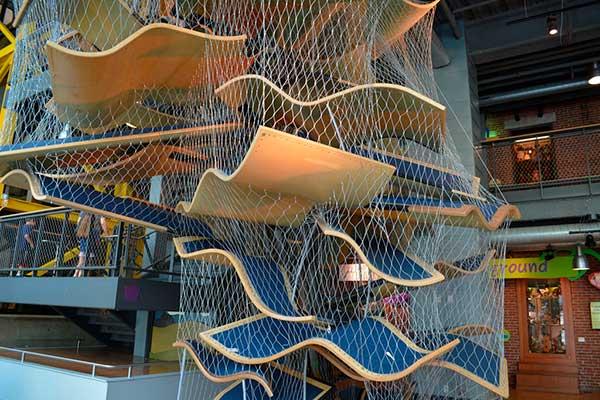 Boston Children's Museum three-story climb